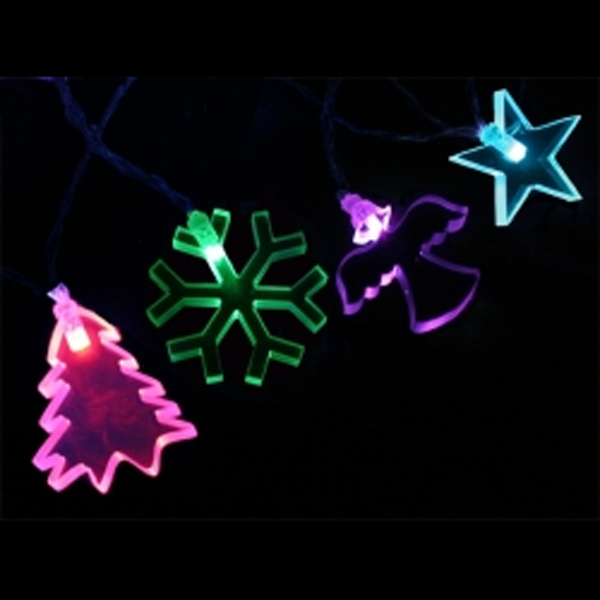 Color Changing LED Garland Tree/Angel/Snowflake/Star Indoor Transformer - 12 Piece