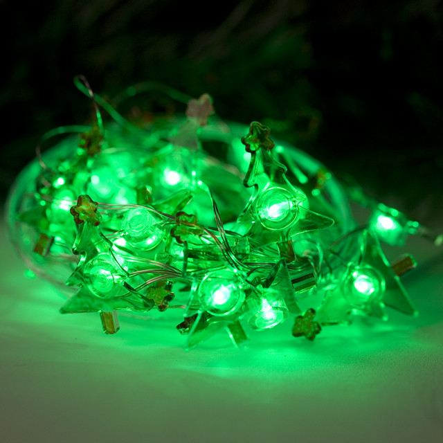 Mr. Light Bendable Copper Wire String Light - 25 Green LED Trees