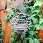 "3"" Hanging Wire Ball Tea Light Candle Holder"