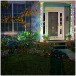 Mr. Light Solar 26 ft. Long & 50 LED Multicolor Multi-Function Stringlight with Green Wire