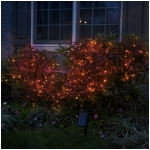 Solar String Lights, 200 Red LEDs, 77 Feet Long with Green Wire, Multifunction with Memory and Photo-Sensor