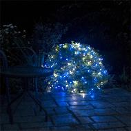 Solar Net Lights with Blue and White LEDs