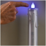 """9.5"""" LED Touch Control Taper (White, Amber, & Color Changing LED) With Timer"""