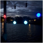 Single Color Changing LED Light Snow Ball Outdoor Ornament with Timer