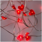 Mr. Light 10 Ft. Long Bendable Copper Wire String Light - 25 Heart LEDs