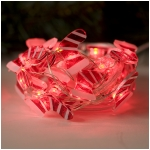 Mr. Light Acrylic Christmas Stocking String Light Set, 25 Red LEDs, 10 ft. Long, Battery Operated