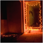 Pumpkin LED String Lights 100 Lighted Pumpkins Indoor/ Outdoor 35 Feet Long Extendable