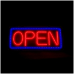 Lighted OPEN Sign with 8 Red/Blue Light Modes!