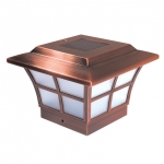 "Mr. Light Copper Plated Prestige Solar Post Cap - Size 4""x4"""