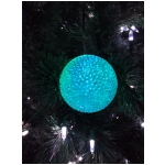 "3"" Color changing led snowball ornament with 6 hr Timer. Batteries are not included."