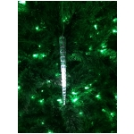 "Mr. Light 9.75"" Realistic Acrylic Icicle Ornament - 8 Slow Cascading White LEDs with 6 Hr Timer"