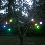 Mr. Light 4 inches Frosted Starburst Indoor/Outdoor Lighted Ornament - Color Changing LED with Timer