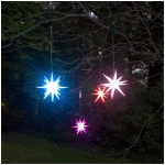 "Single 8"" Frosted Starburst Lighted Outdoor Ornament - Color Changing LED with Timer"