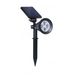 Solar LED Spotlight - White LEDs - Garden Stake Included