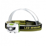 Waterproof LED Head Lamp with Super Bright White & Red LEDs - Great for a Stocking Stuffer!  Hiking, Biking, Camping