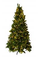 Mr. Light 7.5Ft Decorated Tree - Total 1202 Tips, 500 Steady Warm White LEDs, Mixed PE & Iced PVC