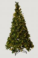 Mr. Light 8.5Ft Decorated Tree - Total 1778 Tips, 600 Steady Warm White LEDs, Mixed PE & Iced PVC