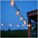 G50 Clear Light Bulbs with 26 Ft. Long White Wire, UL Listed - Set of 25 - Extendable Indoor/Outdoor String Lights